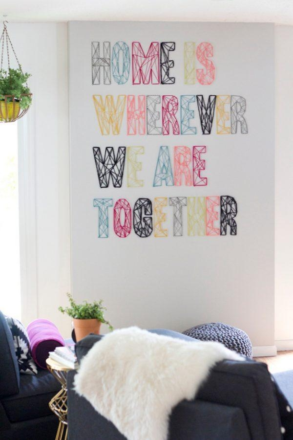 Wall Art Design Ideas : Nail And Yarn Wall Art – Inspirational With Regard To Sock Monkey Wall Art (Image 18 of 20)