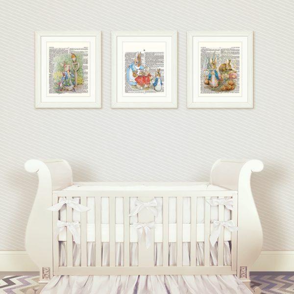 Wall Art Design Ideas : Peter Rabbit Nursery Wall Art U2013 Amusing With Regard  To Peter Part 94