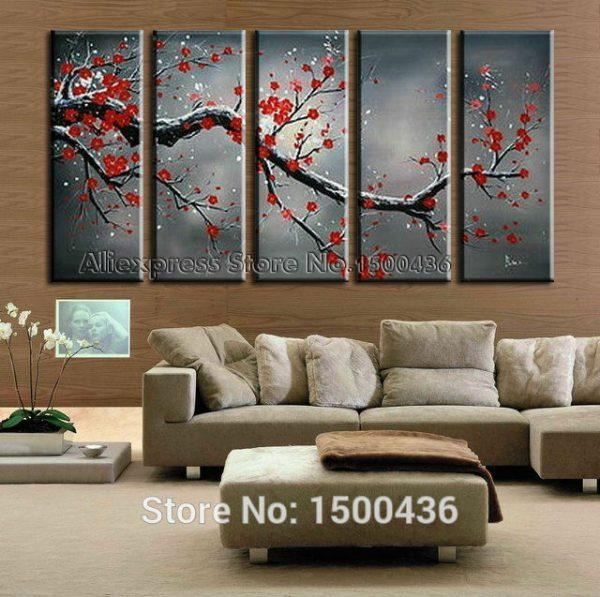 Featured Image of Red Cherry Blossom Wall Art