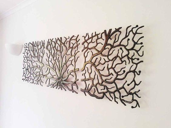 Wall Art Design Tree Wall Art Metal Stained Black Branches 3 Regarding Metal Wall Art Trees And Branches (Image 19 of 20)