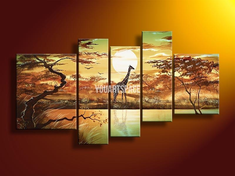 Wall Art Designs: 3 Piece Wall Art Hand Painted Oil Canvas Art With 3 Piece Wall Art Sets (View 20 of 20)