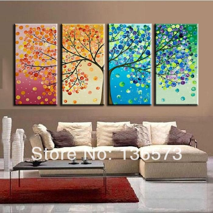 Wall Art Designs: 4 Piece Canvas Wall Art Large 4 Ppieces Canvas Within Cheap Modern Wall Art (Image 13 of 20)