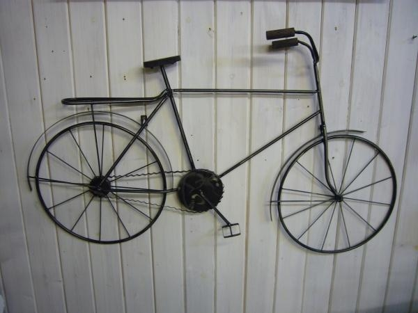 Wall Art Designs: Amazing Metal Wall Art Bicycle Wire Sculpture With Bicycle Wall Art Decor (View 7 of 20)