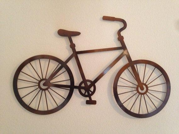 Wall Art Designs: Amazing Metal Wall Art Bicycle Wire Sculpture With Bicycle Wall Art Decor (View 4 of 20)