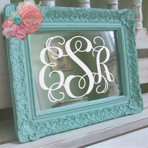 Wall Art Designs: Awesome Designed Framed Monogram Wall Art With For Framed Monogram Wall Art (Image 17 of 20)