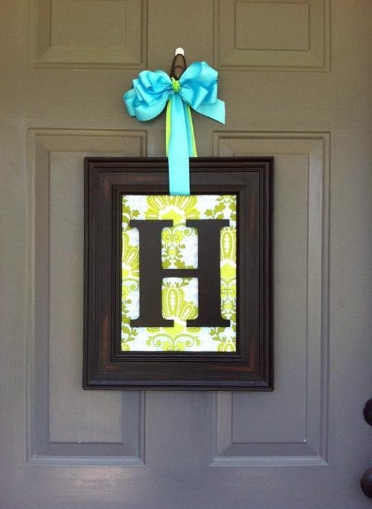 Wall Art Designs: Awesome Designed Framed Monogram Wall Art With Inside Framed Monogram Wall Art (Image 18 of 20)