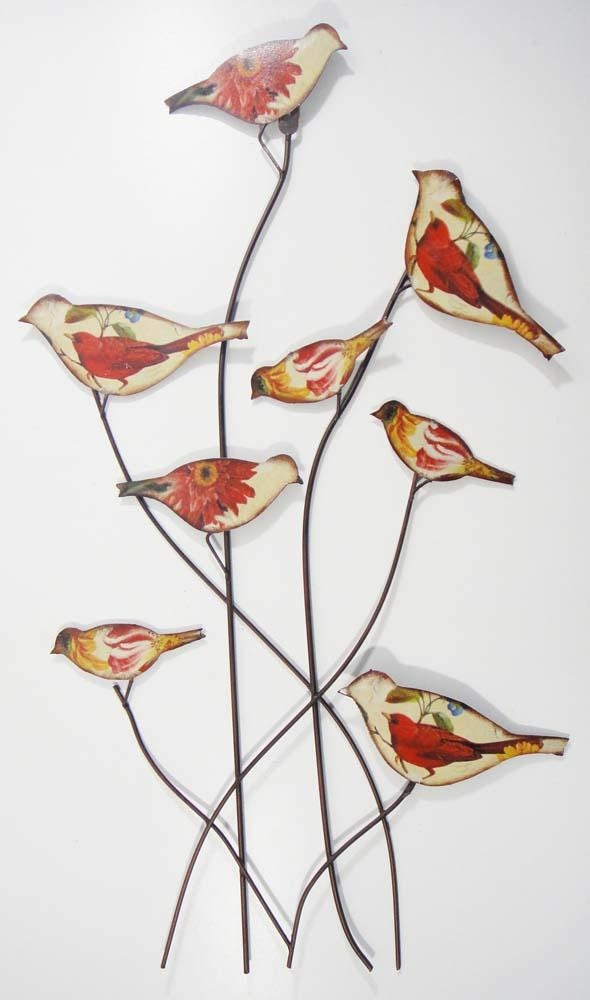 Wall Art Designs: Awesome Metal Bird Wall Art, Metal Wall Art Within Flock Of Birds Metal Wall Art (View 14 of 20)