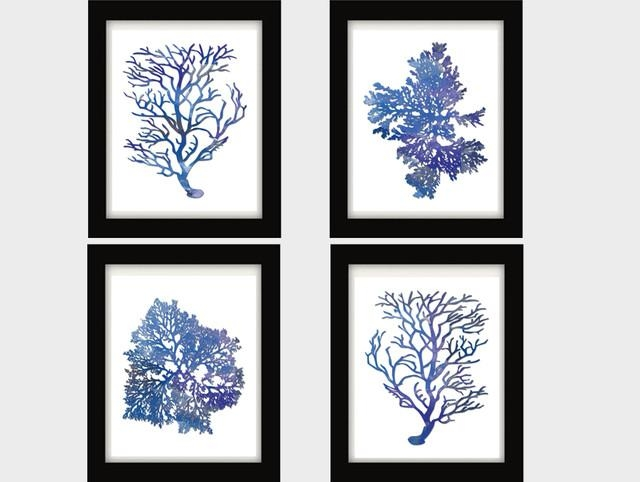 Wall Art Designs: Awesome Navy Blue Wall Art, Navy And White Wall Intended For Navy Blue Wall Art (Image 20 of 20)