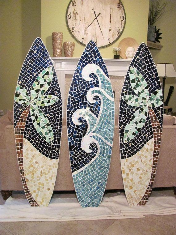 Wall Art Designs: Awesome Surfboard Wall Art, Cheap Surfboards For Regarding Decorative Surfboard Wall Art (Image 13 of 20)