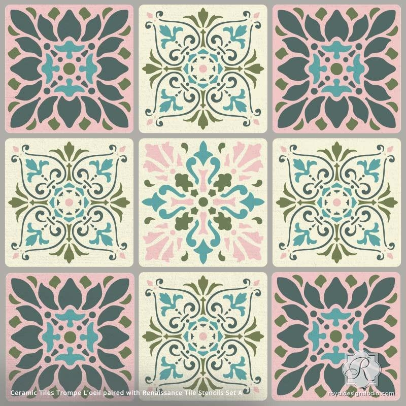 Wall Art Designs: Awesome Tile Wall Art, Decorative Ceramic Tiles Inside Ceramic Tile Wall Art (Image 19 of 20)