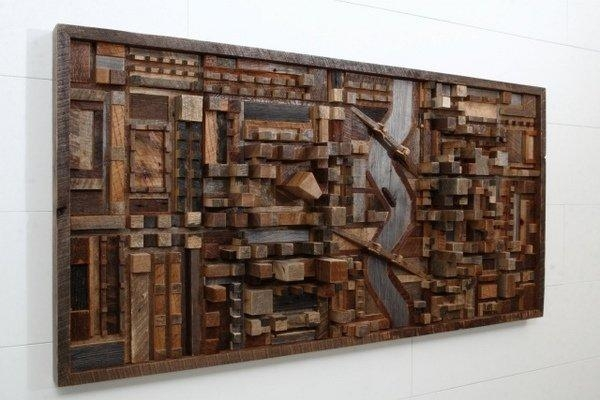 Wall Art Designs: Awesome Unique Modern Wall Art And Decor Wood Regarding Unique Modern Wall Art And Decor (Image 18 of 20)