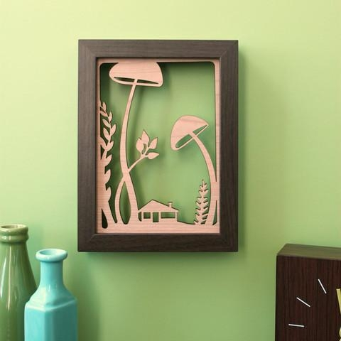 Wall Art Designs: Best 10 Designing Mushroom Wall Art Cute Picture Intended For Mushroom Wall Art (View 4 of 20)