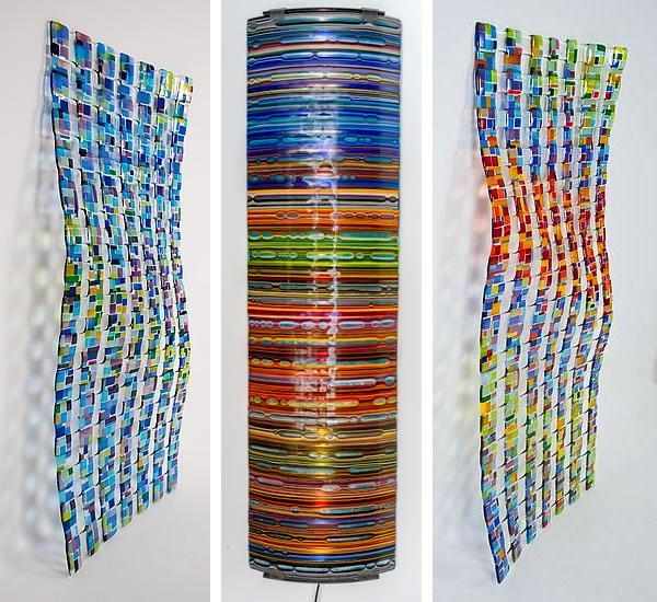 Wall Art Designs: Best 10 Ideas Slumped Glass Wall Art Fused In Modern Glass Wall Art (Image 18 of 20)