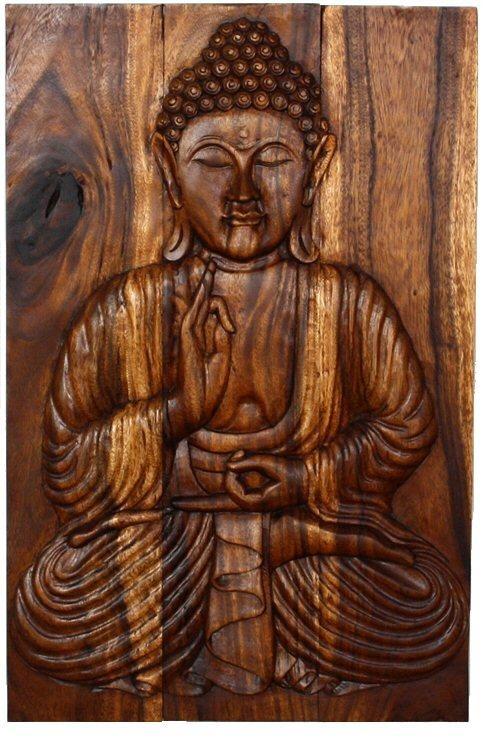 Wall Art Designs: Best Buddha Wood Wall Art Wooden Buddha Wall Art Regarding Buddha Wooden Wall Art (Image 11 of 20)