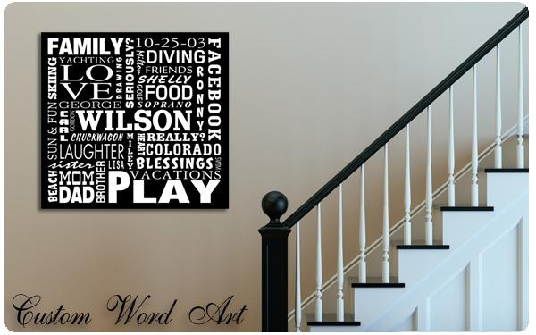 Featured Image of Custom Canvas Art With Words