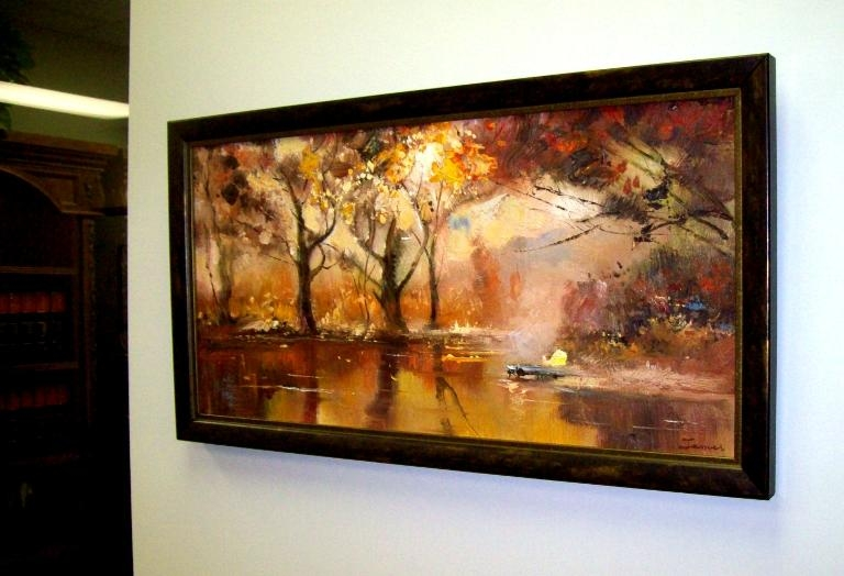 Wall Art Designs: Best Magnificent Framed Wall Art For Office As Throughout Brown Framed Wall Art (View 1 of 20)