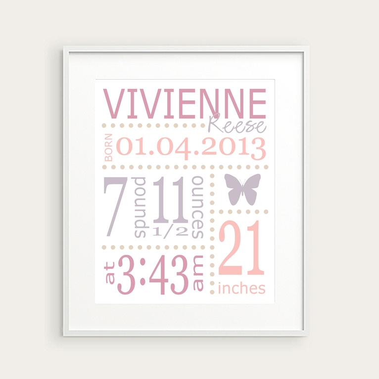 Wall Art Designs: Best Themed Personalized Wall Art For Nursery Inside Personalized Nursery Wall Art (Image 20 of 20)