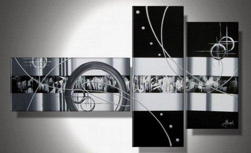 Wall Art Designs: Black And White Canvas Wall Art Abstract Wall Regarding Black And White Wall Art Sets (Image 17 of 20)