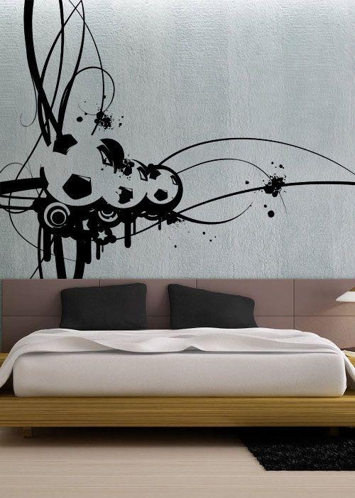 Wall Art Designs: Cool Modern Art Wall Decals Vinyl Window Murals Intended For Modern Vinyl Wall Art (View 3 of 20)