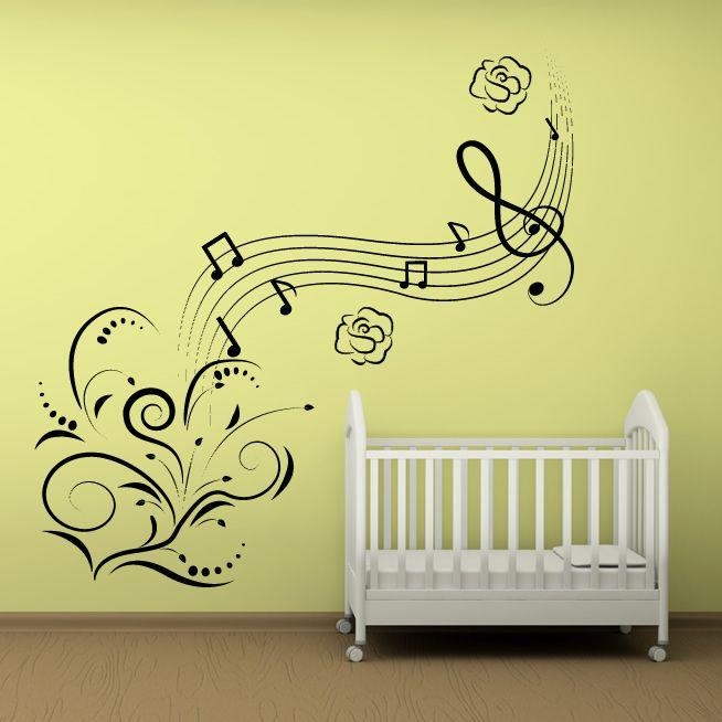 Wall Art Designs: Cool Musical Note Wall Art Removable Feature Pertaining To Music Note Wall Art Decor (View 7 of 20)