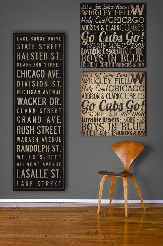 Wall Art Designs: Custom Wall Art Canvas Words Text Stickers With Vintage Style Wall Art (View 17 of 20)
