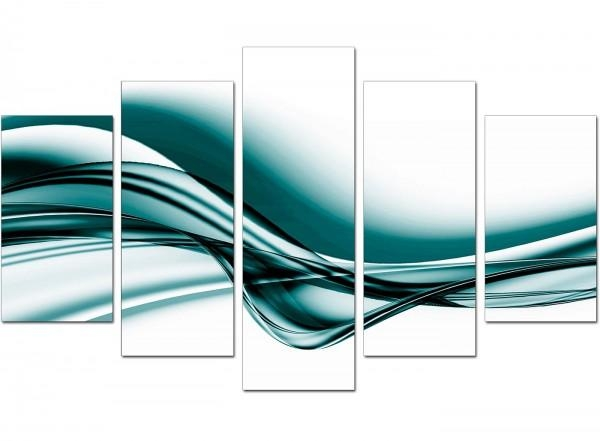 Wall Art Designs: Five Piece Canvas Wall Art Extra Large Teal Pertaining To Large Teal Wall Art (Image 19 of 20)