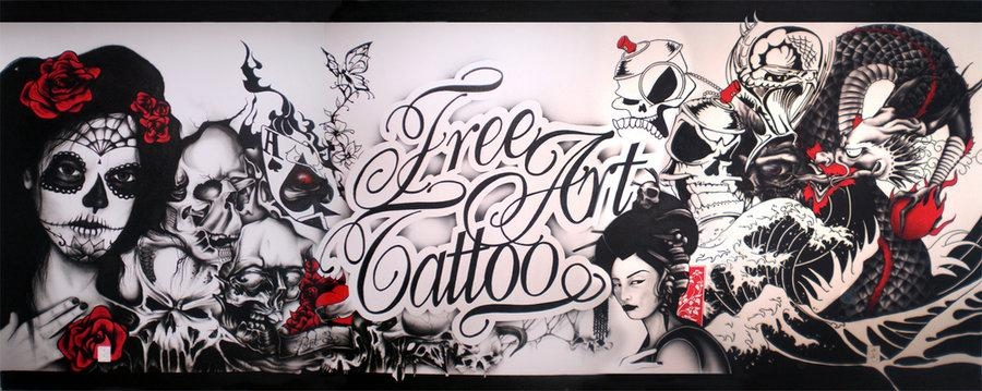 Featured Image of Tattoo Wall Art