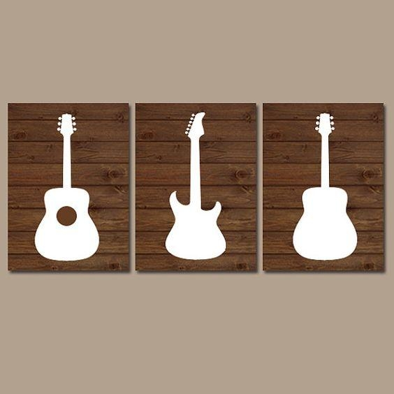 Wall Art Designs: Guitar Wall Art Large Jeweled Metal Guitar Wall With Guitar Metal Wall Art (Image 18 of 20)