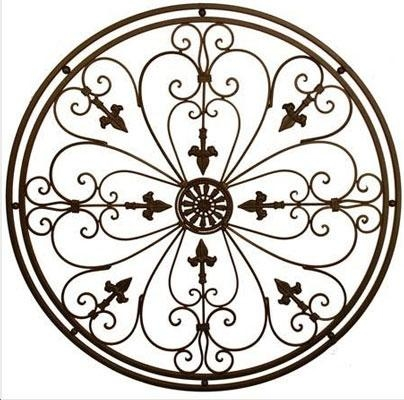 Wall Art Designs: Iron Wall Art Newblack Cast Amp Wrought Iron In Filigree Wall Art (Image 16 of 20)