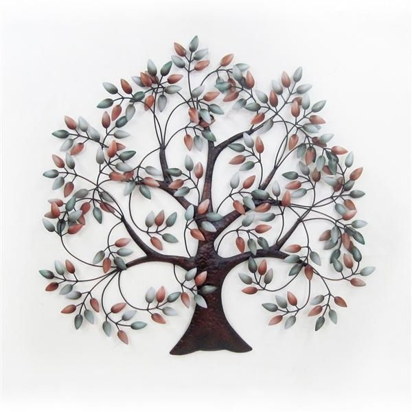 Wall Art Designs: Metal Wall Art Trees Metal Wall Art Autumn Intended For Oak Tree Metal Wall Art (Image 19 of 20)