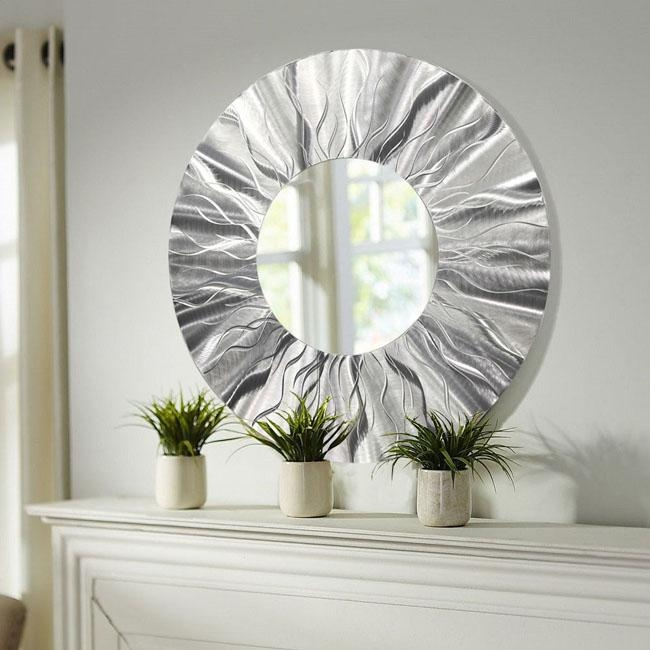 Wall Art Designs: Modern Classic Contemporary Mirror Wall Art Intended For Large Round Wall Art (Photo 20 of 20)