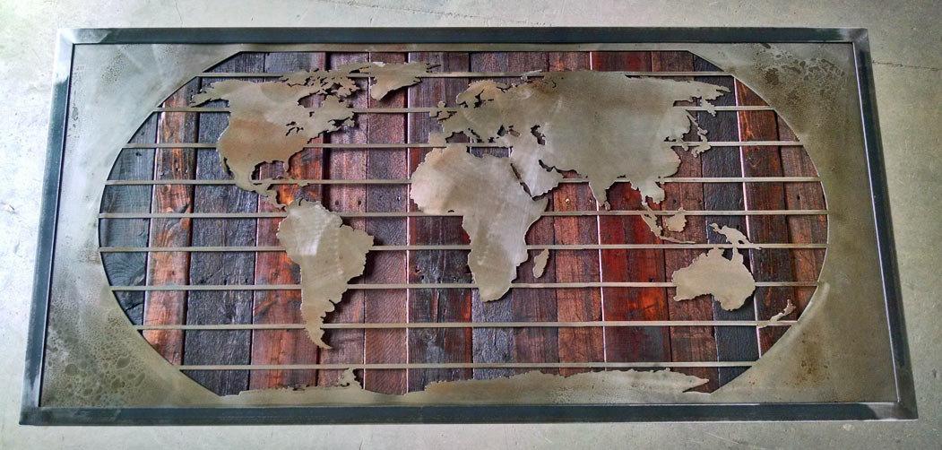 Wall Art Designs: Most Historical World Map Wall Art Framed Regarding Metal Framed Wall Art (Image 17 of 20)