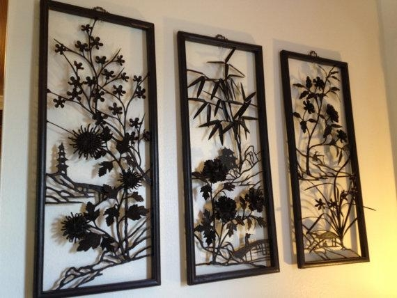 Wall Art Designs: Multi Panel Wall Art For Home Decor, Multi Panel With Regard To Asian Wall Art Panels (View 5 of 20)