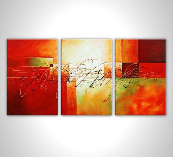Wall Art Designs: Multi Panel Wall Art Red Painting Canvas Art Regarding Multiple Panel Wall Art (Image 18 of 20)