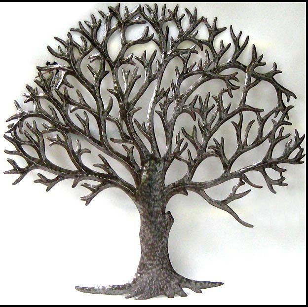 Wall Art Designs: Nice Metal Tree Wall Art, Wall Art Trees Metal Inside Oak Tree Metal Wall Art (View 2 of 20)