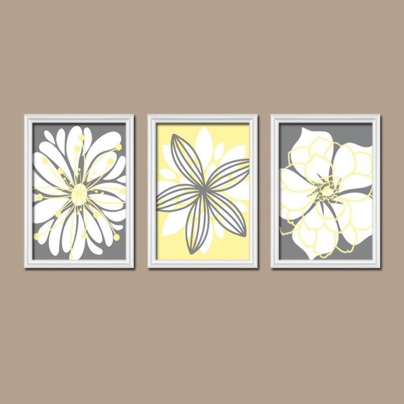 Wall Art Designs: Nice Yellow And Gray Wall Art, Yellow Grey Wall With Yellow And Gray Wall Art (Image 13 of 20)
