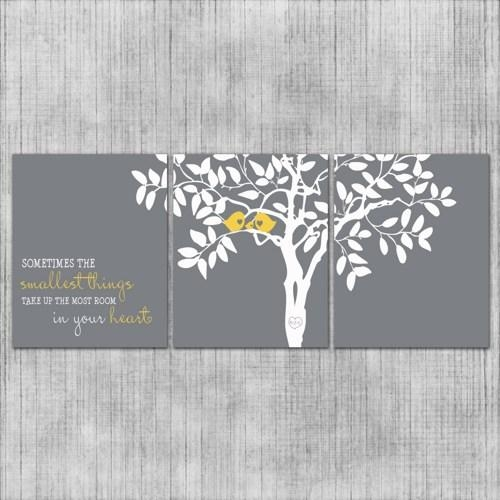 Wall Art Designs: Nice Yellow And Gray Wall Art, Yellow Grey Wall With Yellow Grey Wall Art (Image 11 of 20)