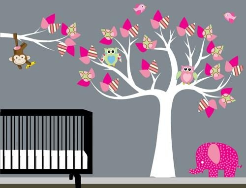 Wall Art Designs: Nursery Wall Art Home Decorate Wall Art Tree With Wall Art For Girls (Image 18 of 20)