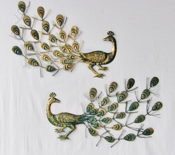 Featured Image Of Metal Peacock Wall Art