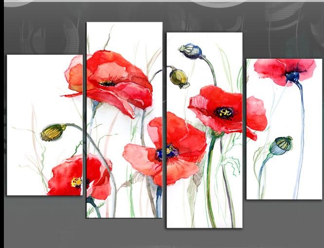 Wall Art Designs: Poppy Wall Art Wall Art Metal Wall Art Picture Inside Red Poppy Canvas Wall Art (Image 19 of 20)