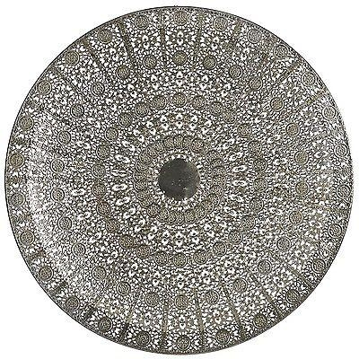 Wall Art Designs: Round Metal Wall Art Vintage Silver Moroccan Throughout Art Deco Metal Wall Art (Image 19 of 20)