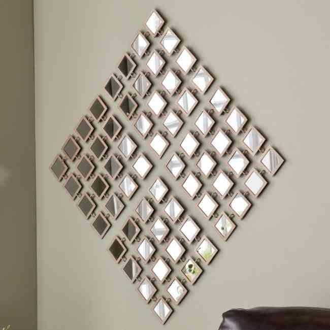 Wall Art Designs: Stunning Decorative Wall Art With Mirrors With Within Wall Art Mirrors Contemporary (Image 15 of 20)