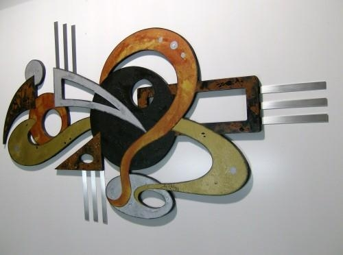 Wall Art Designs: Top Modern Abstract Metal Wall Art Sculpture With Regard To Unique Modern Wall Art (View 16 of 20)
