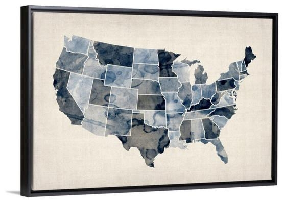 Wall Art Designs: Us Wooden Signs United States Map Wall Art Regarding United States Map Wall Art (Image 17 of 20)