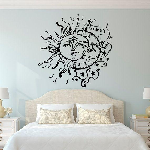 Wall Art Designs: Wall Art For Bedroom Sun And Moon Wall Decals With Regard To Wall Art For Bedrooms (View 11 of 20)