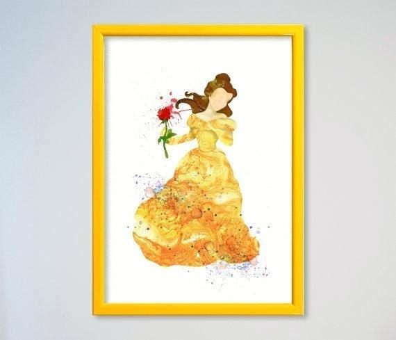 Wall Art ~ Disney Princess Wall Art Canvas Disney Princess Wall Intended For Disney Princess Framed Wall Art (Image 17 of 20)