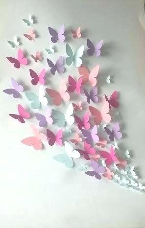Wall Art ~ Diy Butterfly Wall Art Wall Art Butterflies 3D Metal For Butterflies 3D Wall Art (Image 19 of 20)