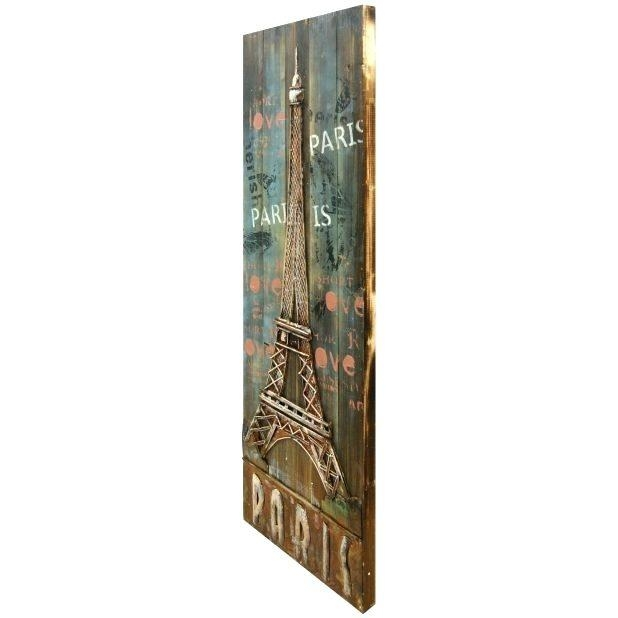 Wall Art ~ Eiffel Tower Metal Wall Decor Eiffel Tower Metal Wall In Metal Eiffel Tower Wall Art (Image 18 of 20)
