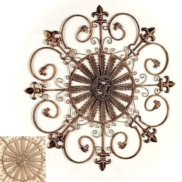 Wall Art ~ Fleur De Lis Metal Panel Wall Art Fleur De Lys Haitian Throughout Fleur De Lis Metal Wall Art (Image 20 of 20)
