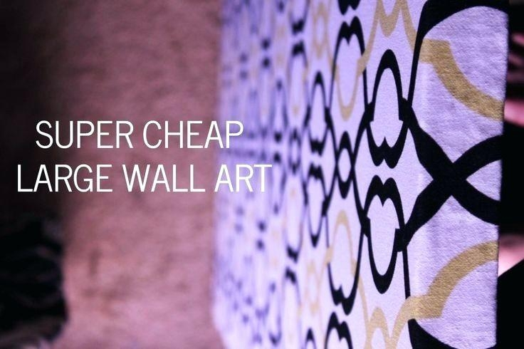 Wall Art ~ Giant Wall Art Cheap Large Abstract Wall Art Cheap In Large Cheap Wall Art (View 8 of 20)